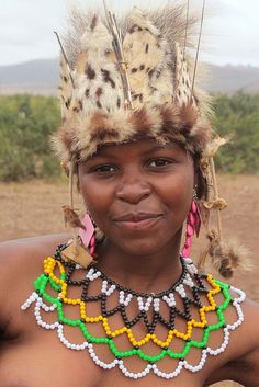 Woman at the Zulu Reed Dance Ceremony, Swaziland