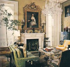 "The Devoted Classicist: Notable Homes: Mercer House: Drawing room showing the fireplace on the side of the house. From the wonderful book "" Midnight in the Garden of Good and Evil."""