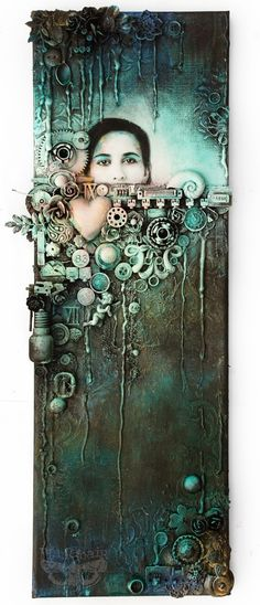 Finnabair: Deep Waters - mixed-media collage