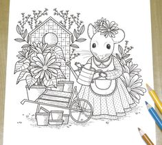 House Mouse Printable Coloring Pages - Bing images Farm Animal Coloring Pages, Pattern Coloring Pages, Cat Coloring Page, Printable Adult Coloring Pages, Fairy Coloring, Coloring Pages To Print, Coloring Book Pages, Coloring Pages For Adults, Mouse Color