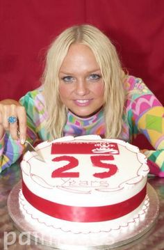 Emma Bunton cuts into a cake, celebrating the 25th Birthday of the Prince's Trust and to announce that she has been made an official Prince's Trust Ambassador at the Capital FM Party in the Park for the Prince's Trust in London's Hyde Park.