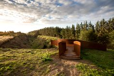 Image 1 of 16 from gallery of Fur Diatoms / Reiulf Ramstad Arkitekter + Leth&Gori. Photograph by Bjørn Pierri Enevoldsen Cool Landscapes, Beautiful Landscapes, Contemporary Landscape, Contemporary Architecture, Nice Landscape, Home Styles Exterior, Urban Park, Modern Landscaping, Small Island