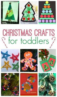 101 Christmas Crafts for Kids - toddler crafts