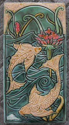 Art Noveau Majolica Tile work | Tumblr