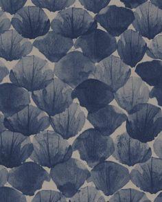 Abstract floral wallpaper - Poppy Deep from Mimou. Marimekko Wallpaper, Inspiration Wand, Deco Floral, Vinyl Wallpaper, Wall Patterns, Color Of Life, Eclectic Decor, Blue Walls, Designer Wallpaper