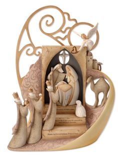 possibly one of the loveliest nativitys I have seen. Yes I am an Atheist but can still appreciate the beauty of an object and the nativity STORY just like I appreciate any other story.