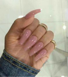 Pink long nails. Beautiful *-*