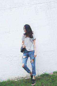 "yes-asianstreet: "" Yes Asian Street iStyle "" Korean Fashion Winter, Korean Fashion Casual, Ulzzang Fashion, Korean Street Fashion, Korea Fashion, Asian Fashion, Girl Fashion, Fashion Outfits, Kawaii Fashion"