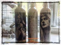 Shabby Chic Vintage Deko aus Weinflaschen (5) (Small)
