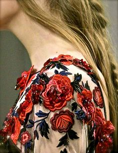 The detail of this embroidery is bananas! Rodarte detailing