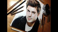zac efron drawing drawings easy pencil colored