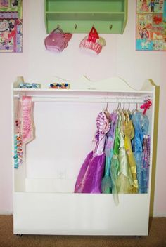 This is exactly what I need to organize the 10 thousand tutus and dress up clothes the girls have. A dress up closet!
