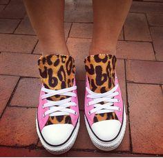 27dc57926fc03a Pink Leopard Print Converse Shoes
