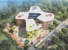 Library Architecture, Education Architecture, Concept Architecture, School Architecture, Architecture Design, Kindergarten Interior, Kindergarten Projects, Kindergarten Design, School Building Design