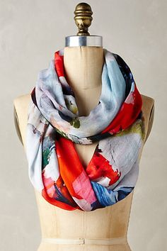 Shiranoe Infinity Scarf #anthropologie - I love the cacophony of all the bright bursts of color