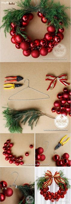 Happy New Year 2019 : Bo?e Narodzenie na Stylowi.pl Mehr (Diy Christmas Wreath) The post Happy New Year 2019 : Bo?e Narodzenie na Stylowi.pl Mehr (Diy Christmas Wreath) & appeared first on Dekoration. Noel Christmas, Christmas Projects, Winter Christmas, Holiday Crafts, Christmas Ornaments, Funny Christmas, Ornaments Ideas, Christmas Ideas, Christmas Balls