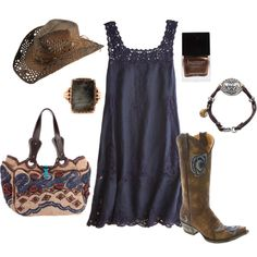 Cute minus the Hat......western, created by lagu on Polyvore