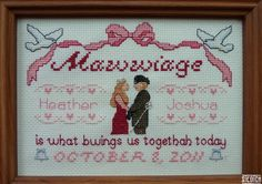 If I were going to make someone a wedding sampler, this is the pattern I'd choose... <3 Steotch.