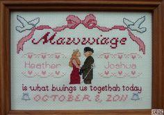 Mawwiage  Princess Bride Customizable cross stitch PATTERN by steotch on Etsy, $9.99