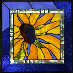 Black Eyed Susan With Cobalt Blue Border - Delphi Artist Gallery