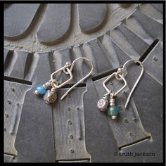 Ancient tradewind and hilltribe silver beads dangle from sterling silver squares. $24 truthjackson.com