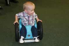 Wheelchair for babies!  This is a cool story and pretty incredible to watch, check out the video on this site.