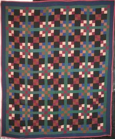 Amish four-in-nine patch vintage quilt at Laura Fisher Quilts