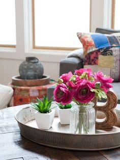 Get high-design inspiration to create a chic coffee table on a budget.