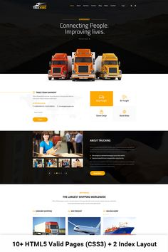 Trucking - Logistics and Transportation HTML Website Template