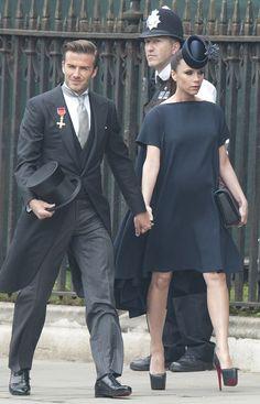 Beckham wore a Ralph Lauren at the Royal Wedding