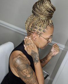 Blonde Braids, Braids With Curls, Braids For Black Hair, Big Hair, Braided Hairstyles Updo, African Braids Hairstyles, Summer Hairstyles, Hot Hair Styles, Curly Hair Styles