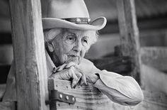"""Connie Reeves, Kerrville, Texas  At 101 years old, Connie was still riding her horse every day.   I asked her what her secret to longevity was.  She said,   """"Well Honey, you just don't let that rocking chair take over…you get up and go even if you don't want to."""""""