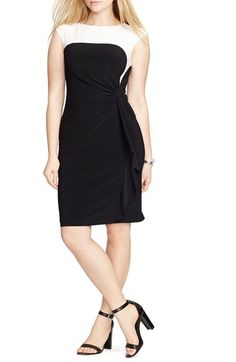 Lauren Ralph Lauren Colorblock Sheath Dress (Plus Size) available at #Nordstrom