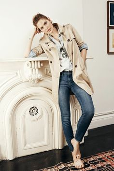 In my books, I could see Camille Caron wearing this trench coat:) ... [Relaxed trench & midnight denim / Madewell]