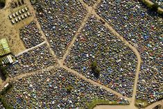 Glastonbury Festival, Somerset | 17 Breathtaking Photos Of Britain From Above