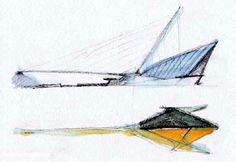 Sketch courtesy Santiago Calatrava archives Milwaukee Art Museum, Sketchbook 1995