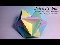 Me again! In this video I'll show how to make the awesome Butterfly Ball. We'll use only 12 very simple units (waterbomb bases!), but the assembly is a bit tricky    Designed by Kenneth Kawamura  Presented here by Jo Nakashima with permission of the creator    TIPS:    1) be patient to put all the units together; once finished, it will be stable...