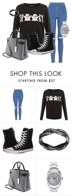 """""""Spky"""" by kayleighmw on Polyvore featuring Topshop, Converse, Michael Kors and Rolex"""
