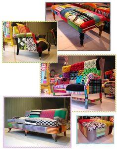 bohemian rhapsody patchwork furniture - funky  colorful