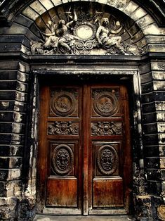 Brown Weathered Door