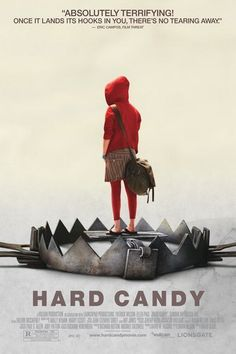 Hard Candy is a 2005 thriller film focusing on the torture of a suspected sexual predator by a vigilant, who stars Ellen Page. Critics applauded Page's performance. Extremely disturbing and haunting . Candy Movie, Candy Film, Candy Art, Hard Candy, Ellen Page, Patrick Wilson, Patrick Star, Movie List, Movie Posters