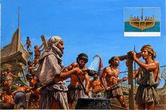 Athenian Navy (Original) (Signed) art by Roger Payne