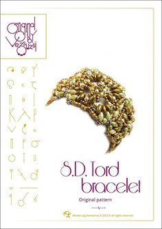 Bracelet  tutorial / pattern SD Tord with by beadsbyvezsuzsi, $13.00