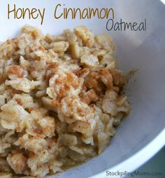 Honey Cinnamon Oatmeal is my favorite breakfast meal. Oatmeal is such a great way to start day. It will satisfy your hunger and keep you feeling fuller longer. You can jazz up oatmeal with many different toppings from berries to bananas to honey and cinna