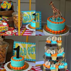 A carnival themed first birthday party