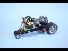 Rubber Band Car based on LEGO EDU Renewable Energy Set - YouTube