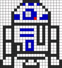 R2 D2 Perler Perler Bead Pattern   Perler Bead Patterns   Characters Fuse Bead Patterns Celui là est + simple