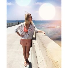 52692c251456 Our girl Jenna rocking O Neill Women s lace trimmed shorts.