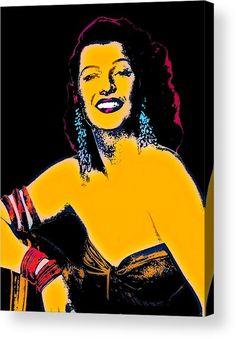 Rita Hayworth Acrylic Print featuring the mixed media La Dama De Trinidad by Otis Porritt