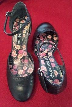 91daf01bf56 DIANA FERRARI ladies women shoes closed sandals heels genuine leather black  sz 8
